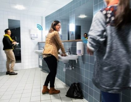 The Internet of Things, all the way to restrooms