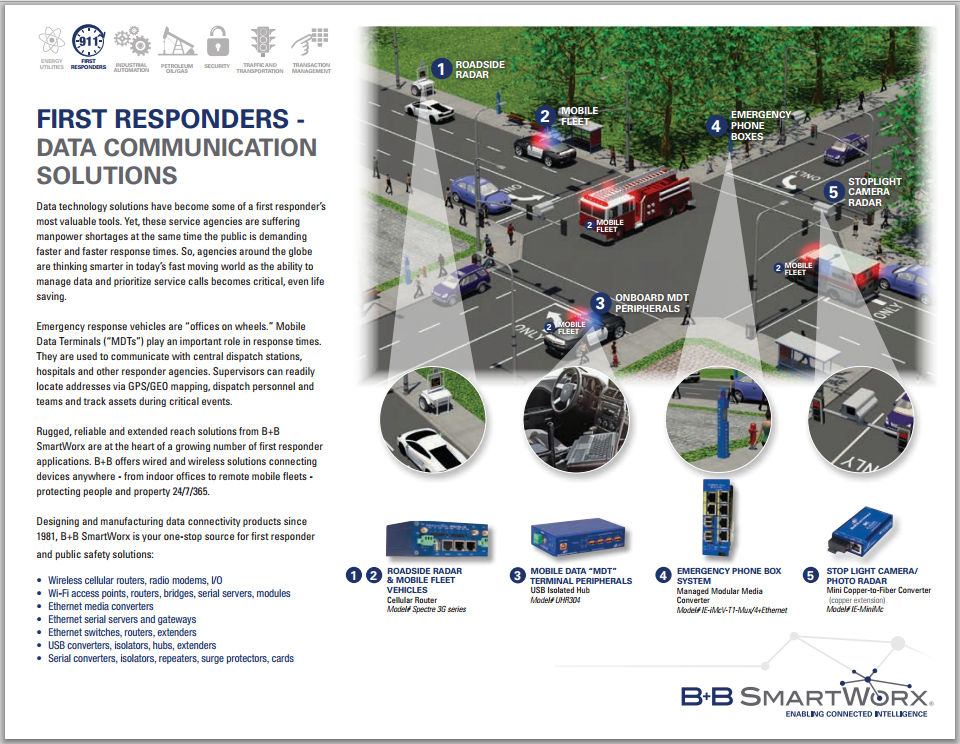 First Responders Product Line Card