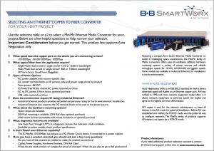 Ethernet Copper to Fiber Converter Selection Guide