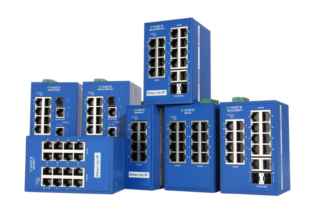 eWORX SE400 Series Managed Industrial Protocol Switches
